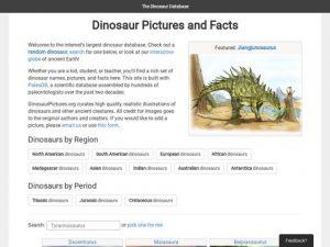 dinosaur database