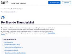 perfiles thunderbird
